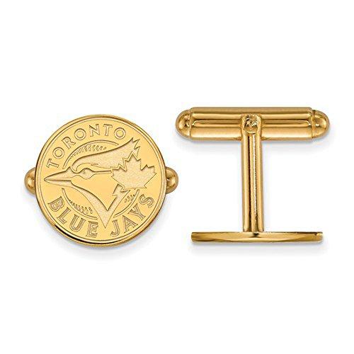 Toronto Blue Jays Logo Cuff Links (Gold Plated Sterling (Toronto Blue Jays Cufflinks)