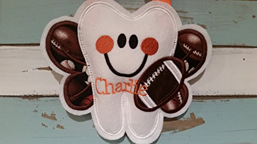 Personalized Tooth Fairy Pillow~ FootBall Tooth Fairy Pillow~ Boy Tooth Fairy Pillow by Faith N Grace Tooth Fairy Pillows