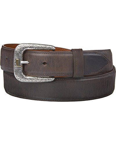 Lucchese Men's Straight Chocolate Burnished Goat Belt Chocolate 34