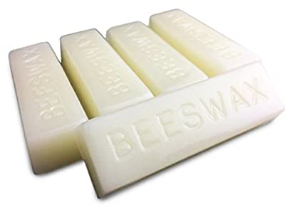 White Beeswax Bars - Organic - 5 Bars - 5 Ounces - by EarthWise Aromatics by EarthWise Aromatics