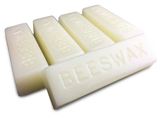 White Beeswax Bars - Organic - 5 Bars - 5 Ounces - by EarthWise Aromatics