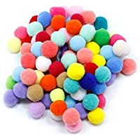 100pcs Pompones de Bola Pom Poms del Craft