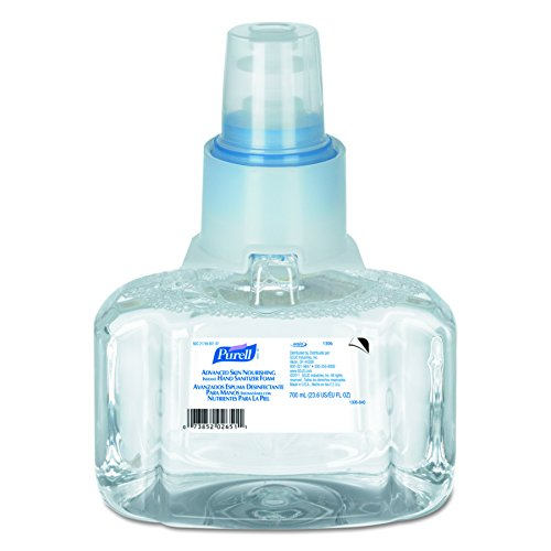 Skin Sanitiser - PURELL LTX-7 Advanced Hand Sanitizer Skin Nourishing Foam, Refreshing Fragrance, 700 mL EcoLogo Certified Sanitizer Refill for PURELL LTX-7 Dispenser (Case of 3) - 1306-03