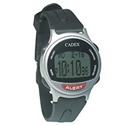 e-pill CADEX 12 Alarm Watch - Long Alarm Duration - Medication Reminder and Medical ALERT ID Watch