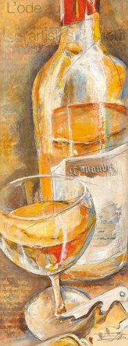 EuroGraphics ESP1167 Art Print 'Du Vin Blanc Extraordinaire' by Elizabeth Espin 13 x 35 cm (Blanc Vin)
