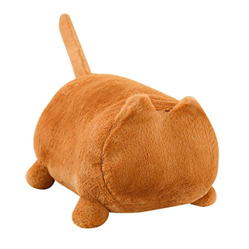GJK-SION Decorative Throw Pillows - Minimalist Cute Soft Cat Shaped Couch Cushions - Hypoallergenic & Cozy - 6 Color Choices - Ideal Living Room & Bedroom Decor, Sofa Plush Pillows (Brown)