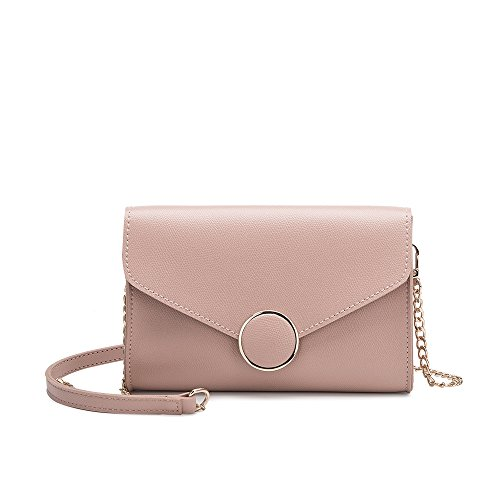 Magnetic Front Flap (Melie Bianco Stylish Crossbody Strap Shoulder Bags For Women - Front Flap Design - Luxury Vegan Leather (Blush))