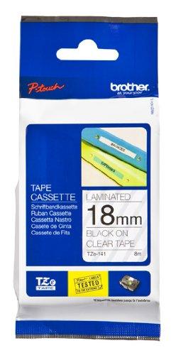 Brother TZe-141 Negro sobre transparente TZe cinta para impresora ...