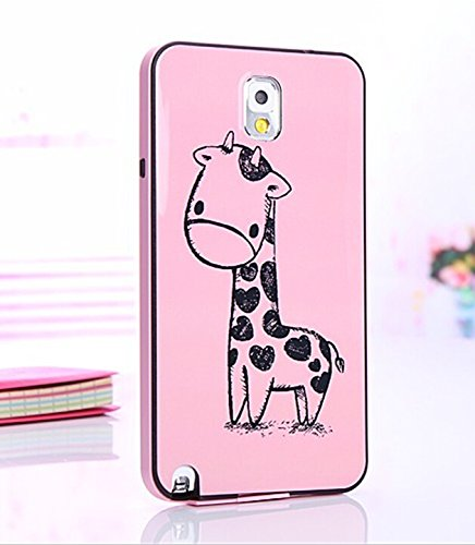 Big Mango Young and Fashion Series Cute Protective Shell Combo Back Case Cover for Samsung Galaxy Note 3 Note III ( Pink Little Giraffe )