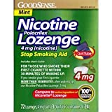 GoodSense Nicotine Polacrilex Lozenge 4mg 72ct *Compare to Nicorette...