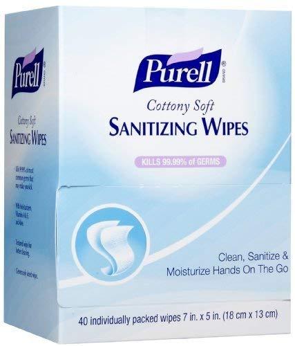 (GOJ902512 - Cottony Soft Individually Wrapped Hand Sanitizing Wipes)