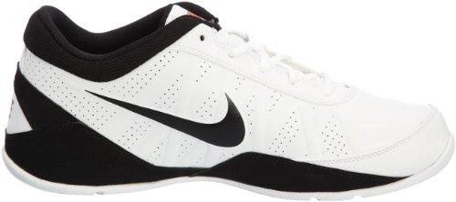 Nike Heren Lucht Ring Leider Laag Basketbalschoenen Wit / Zwart / Rood