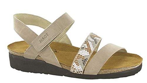NAOT Footwear's Women Gwyneth Sandal Khaki Beige Lthr w/Beige Combo 8 M ()