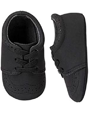 Royal Black Crib Slip-On Dress Shoes Infant Baby Boy