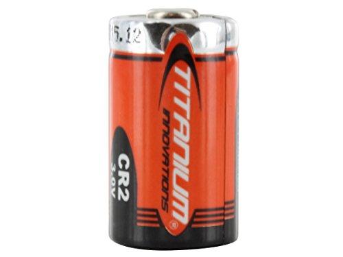 Titanium Innovations CR2 750mAh 3V 2.25A Lithium (LiMnO2) Button Top Photo Battery
