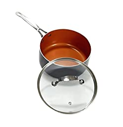 GOTHAM STEEL 3-Quarts (2.8 liters capacity) Saucepan with Lid Included