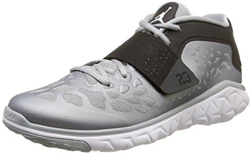 Nike Men, Jordan Flight Flex Trainer 2, Gray (Wolf Grey/White-Black) Gray (Wolf Grey/White-black)