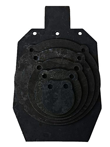 AR500 Steel Target 3/8-inch Tactical Shooting Metal Target, Precision Laser Cut - Improve Your Aim with Hunting Rifles and Pistols / Handguns - by KRATE (4 / 6 / 8 / 10 / 12 / 20 Bundle)