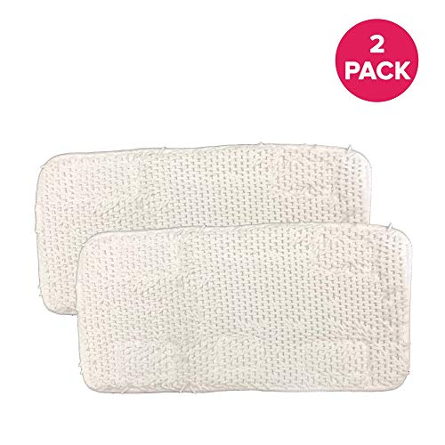 Think Crucial 2 Replacements for Sienna Luna Steamer Head Mop Pads Fit SSM-3006-CP, Washable & Reusable