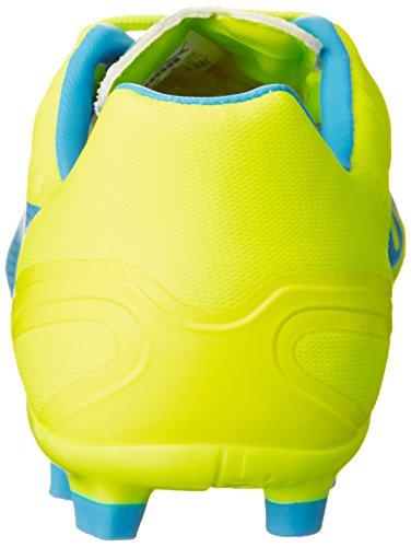 Puma Evospeed 4.4 Ag Jr - Botas de fútbol Unisex Niños Blanco/amarillo/azul