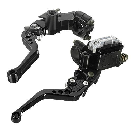 Brake Clutch Lever 7/8inch 22mm CNC Universal Motorcycle Brake Clutch Master Cylinder Lever Reservoir: