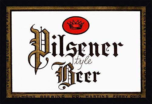 Canvas Art Framed 'Pilsener Style Beer' by Vintage Booze Labels