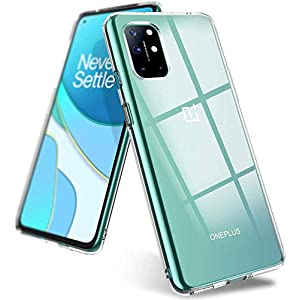 TRUEUPGRADE Crystal Clear Case Compatible with OnePlus 9, 1 mm Thick Back Case, Flexible Silicone Cover, Thin Slim Soft…
