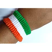 CASHWIN Independence Day,Republic Day Special Indian National Flag Tricolor Tiranga Flag Wrist Band (Set of 10)