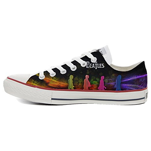 Schuhe Custom Converse All Star, personalisierte Schuhe (Handwerk Produkt customized) Slim The Beatles
