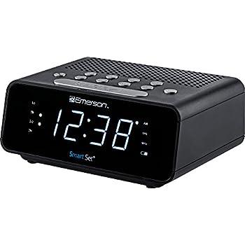 amazon com emerson smartset alarm clock radio with am fm radio rh amazon com Emerson SmartSet Clock Radio On QVC Emerson SmartSet Clock Radio On QVC