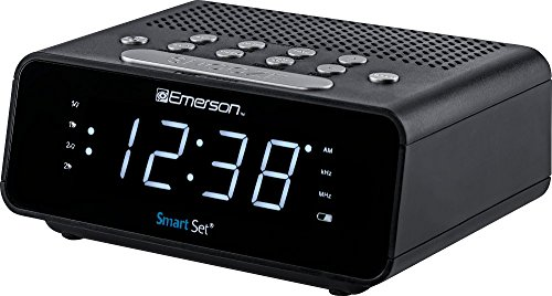 """rm Clock Radio with AM/FM Radio, Dimmer, Sleep Time and .9"""" White LED Display, ER100101 (Wholesale Spy Clock Cameras)"""