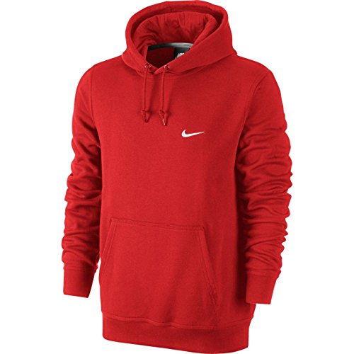 Nike Club Swoosh Mens Red Hoodie Large