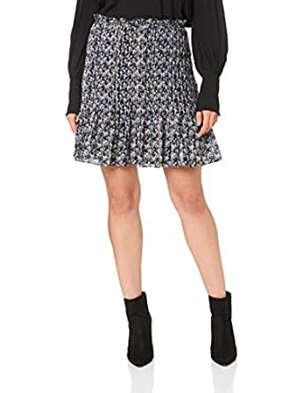 STEVIE MAY Women's Acacia Skirt, Petite Rose Black Lurex Print, XS