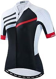 Women's Cycling Jersey Short Sleeve Bike Shirts Back Pocket Reflec