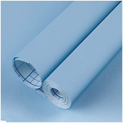 LZYMLG Macaron carta da parati autoadesiva a tinta unita dormitorio camera da letto soggiorno scuola materna PVC impermeabile adesivi per rinnovamento mobili carta da parati verde