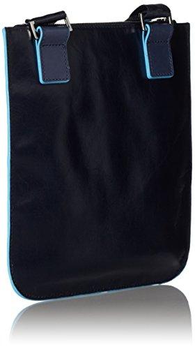 Piquadro Blue Square Borsello, Pelle, Blu, 25 cm
