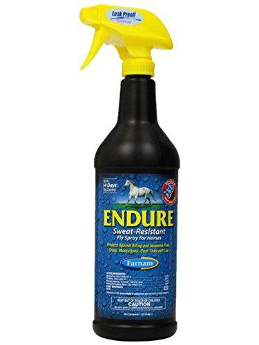 Farnam Endure Fly Sweat Resistant Spray for Horses Protect Biting Flies 32oz