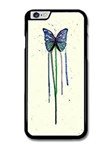 """AMAF ? Accessories Butterfly Watercoloru Insect Blue Green Original Art Illustration case for iPhone 6 Plus (5.5"""")"""