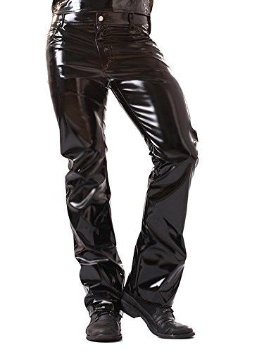 Skin Two Clothing Men's Jeans in PVC Black size 34″ | 86cm
