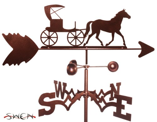 Amish Buggy Garden - Hand Made AMISH HORSE AND BUGGY CARRIAGE GARDEN Stake Weathervane