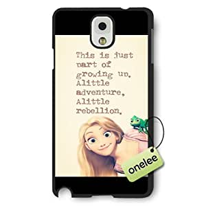 Disney Tangled Princess Rapunzel Frosted Phone Case & Cover for Samsung Galaxy Note 3 - Black