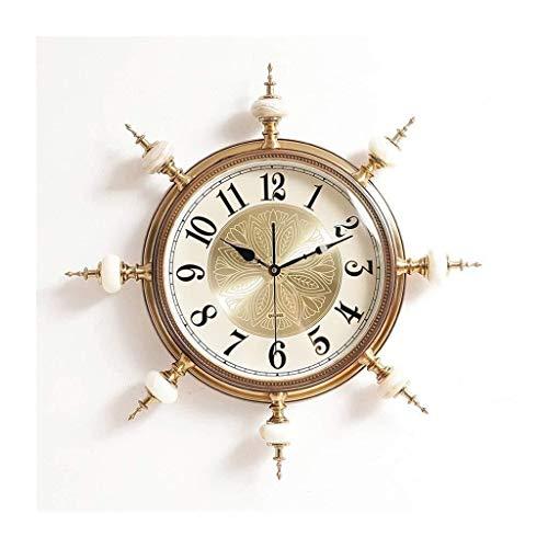 Decorative Clock Quiet Walking Retro Clock Simple and Beautiful Traditional Clock Durable Anti-Corrosion Fun Wall Clock Literary A-31 (B)
