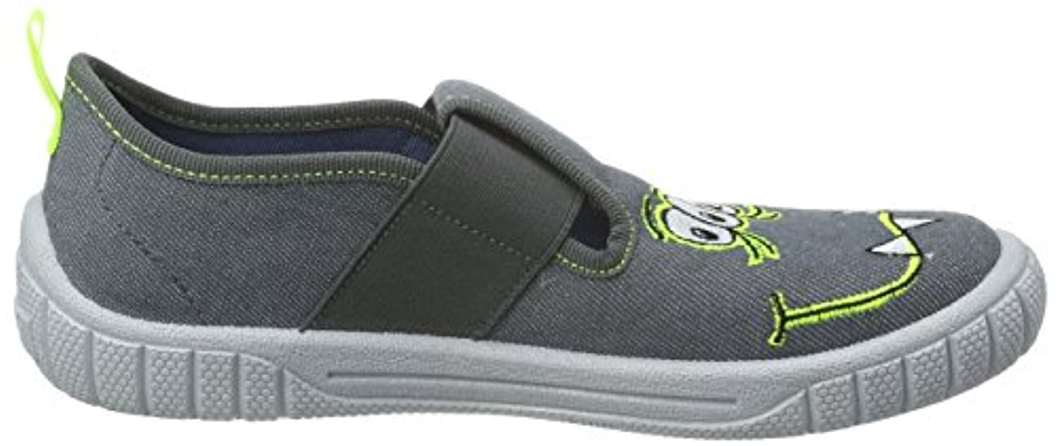 Superfit Boys' Bill Low-Top Slippers, Grey-Grau (Lavagna Kombi 47), 5