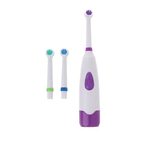 Chiic - Cepillo de dientes eléctrico giratorio recargable para niños, 1 mango con 3 cabezales