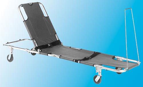 Stretcher w/Adj Back 4-Wheeled (Wheeled Stretcher)
