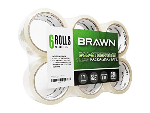 Eco Core - Brawn Eco-Strength Clear Packaging Tape, 3