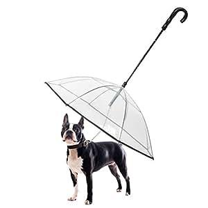 Dog Umbrella Pet Umbrella with Leash - K&L Pet