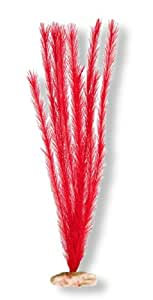 Vibran-Sea Soft Foxtail Silk-Style Aquarium Plant, Extra-Large 18-19 tall, Flame Red