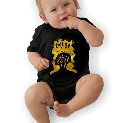STAYREALCYX Gojira L'enfant Sauvage Infant Clothes Baby Boys' Girls' Cotton Bodysuit Black