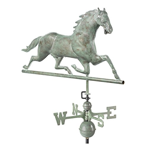 Blue Barn Feeder (Good Directions Horse Weathervane, Blue Verde Copper)